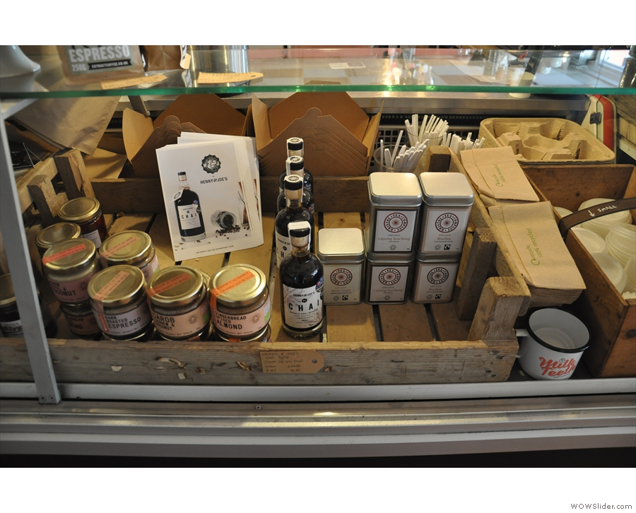 ... and a selection of spreads and loose-leaf tea, all sourced from local suppliers.