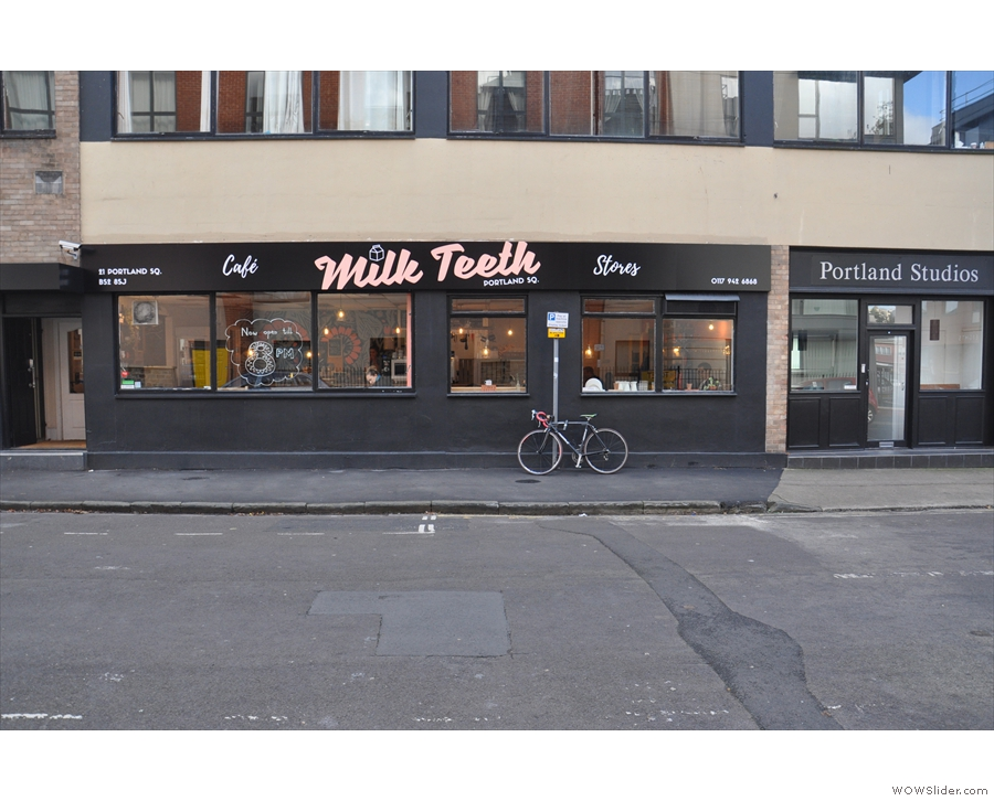 While the address is Portland Sq., you'll find Milk Teeth around the corner on Bishop St.