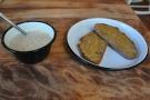I also had some breakfast: porridge and toast.