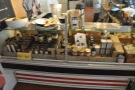 ... as well as a range of provisions which line the left-hand side of the counter.