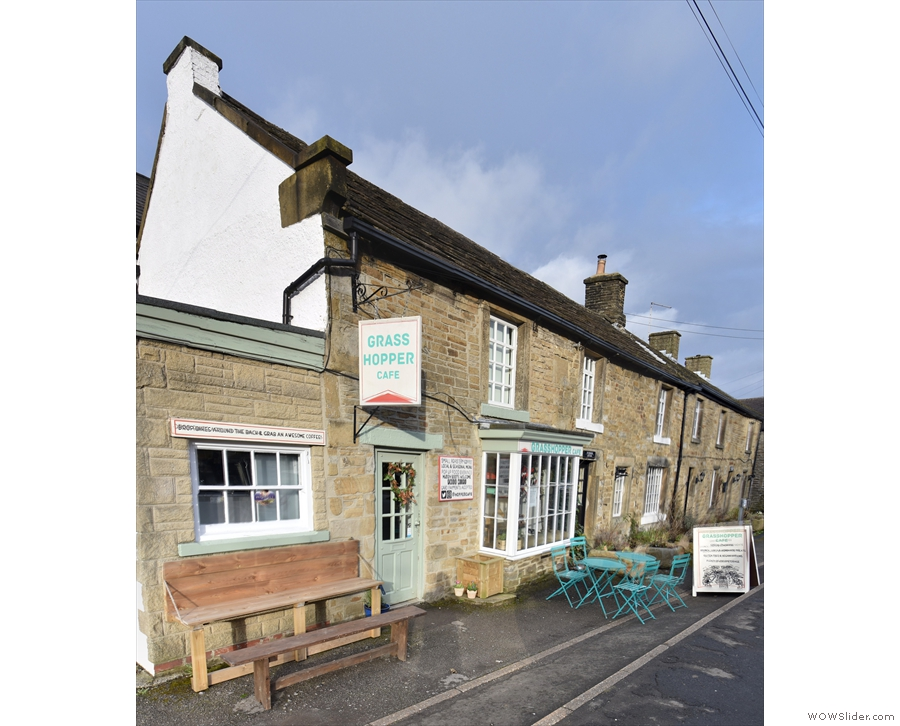 In the heart of the valley is the town of Hope, with this row of stone-built cottages...