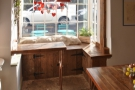 Another view of the bench seat in the window, ideal for catching some winter sun.