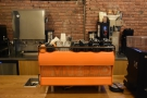 ... where pride of place goes to the Synesso espresso machine in Cafe Grumpy colours.