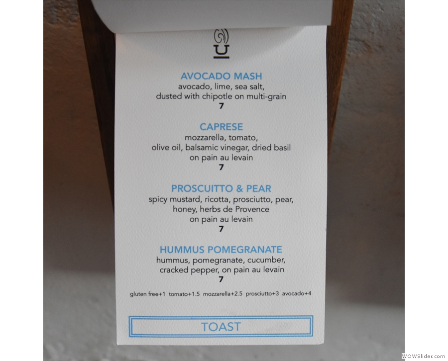 ... which is followed by the toast options.