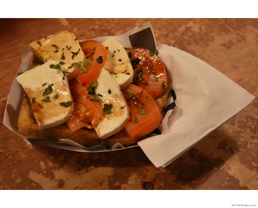 ... and ended up with this, the awesome caprese. So much mozzarella and tomato!