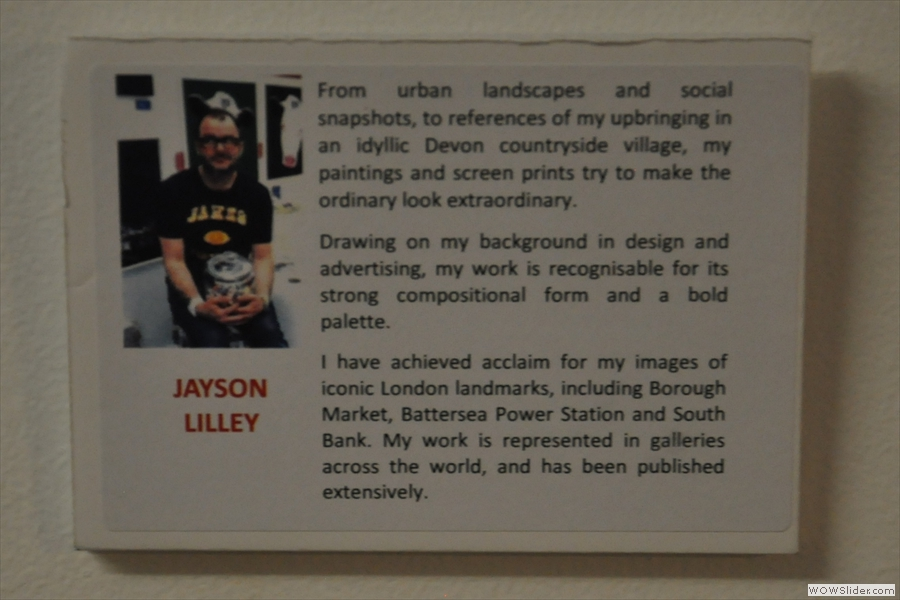 The artist changes on a regular basis. While I was there it was Jayson Lilley.