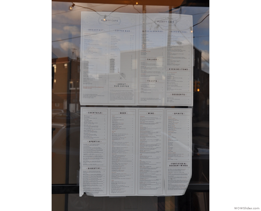 I appreciate a place that puts the menus in the window.