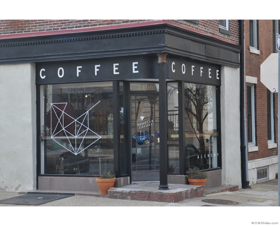 Peddler Coffee on the north side of Philadelphia, looks pretty small from this angle.