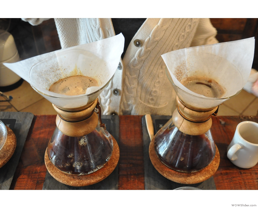 The basic recipe is 25g of coffee, with 50ml of water for a 30 second bloom...