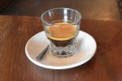 I love espresso served in a glass.