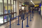 My old friend, Gate 142, the corrridor masquerading as a gate. And for once, no queues!