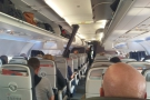 The view from my seat, half way down the plane...