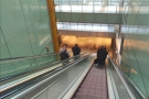 It was soon time to head off for my gate. This involved descending to the bowels of T5...