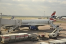 My Airbus A320, waiting to fly me the short hop down to Heathrow.