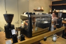 This is the more typical view of the espresso machine, to your left as you stand at the till.