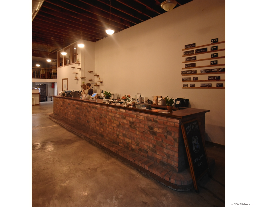 The magnificent brick-built counter is to the right...