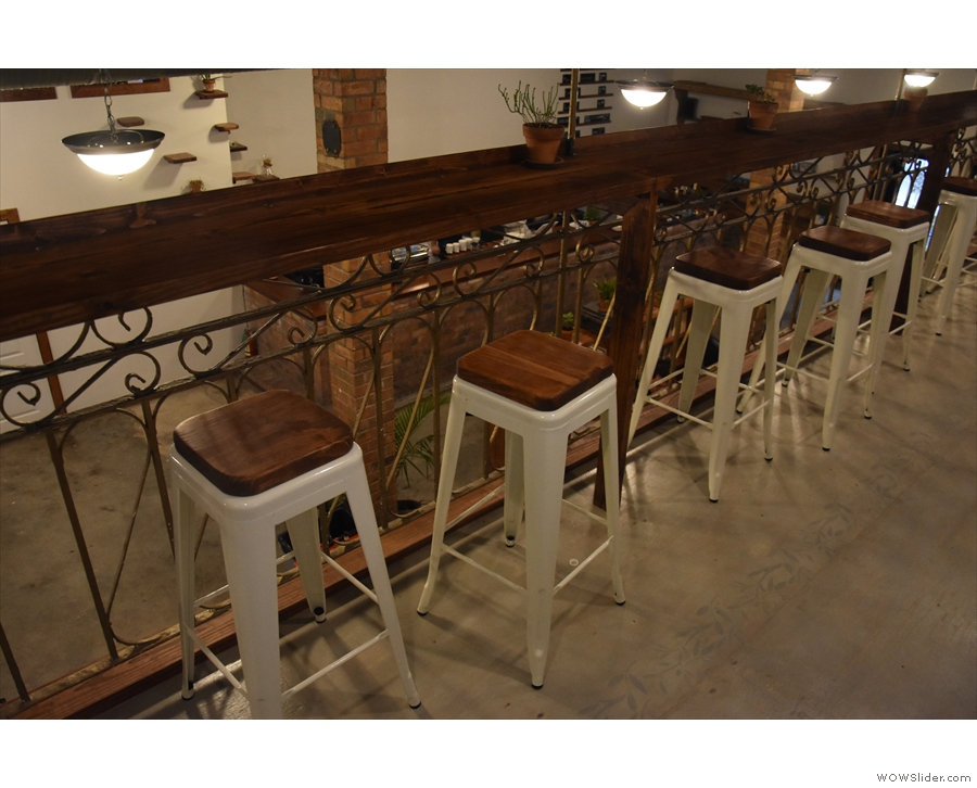 The stools, meanwhile, give a great view of the downstairs...