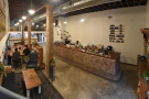 ... pausing only for a panoramic view from seating across to counter.