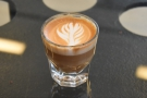 I called in for a swift decaf cortado...