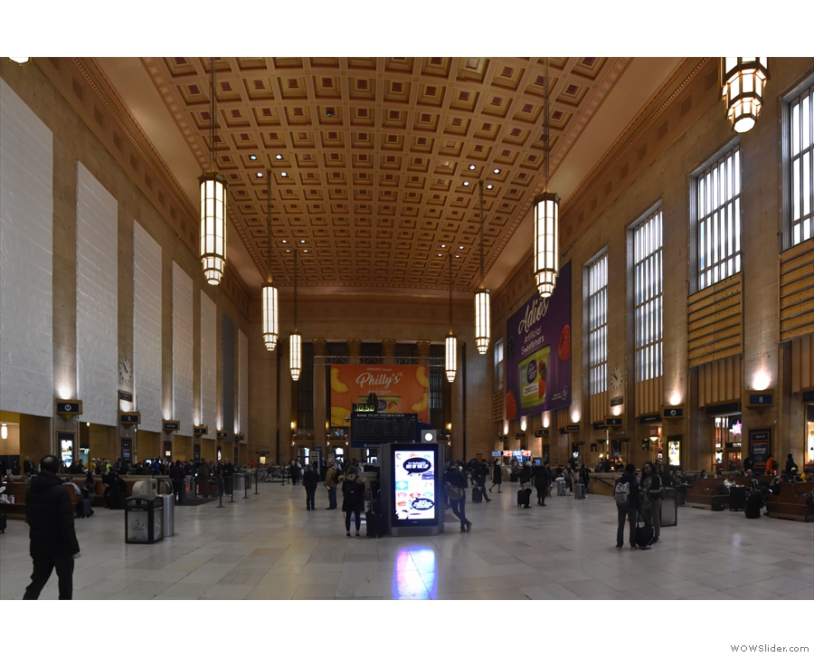 Before long we're at Philadelphia's 30th Street Station, a real beauty.