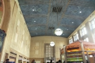 The soaring waiting room of Newark's Penn Station, one of the nicer ones I've seen.