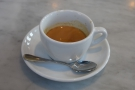 I started with the Rwandan Gatare single-origin as an espresso...