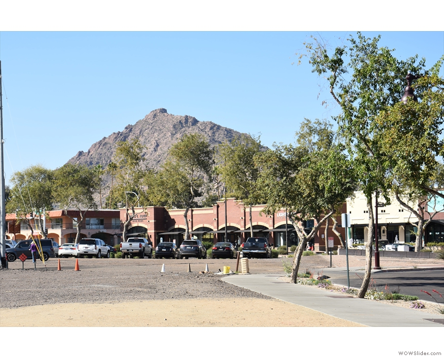 In Phoenix, where there are mountains in the parking lots...