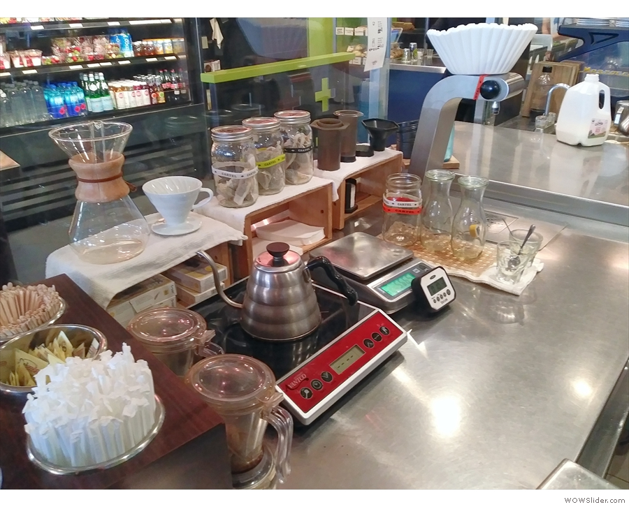 Due to the interesting layout, you get a great view of the pour-overs being made...