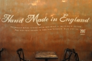 I like how the 'Hand Made in England' sign has been tweaked for the local audience.