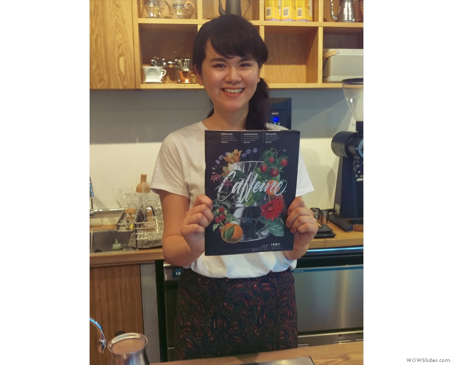 Kurasu appeared in Caffeine Magazine and the staff were delighted to receive a copy!