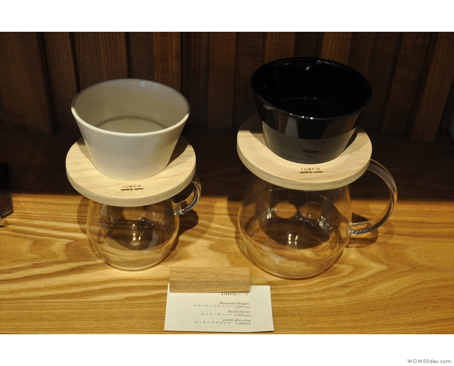There are lots pour-over filters, although these two (the Torch) were my favourites.