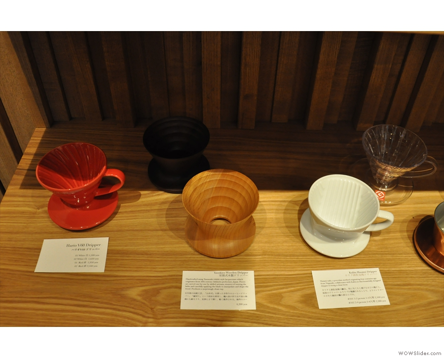 Talking of which, Kurasu is as much about coffee kit as it is about coffee.
