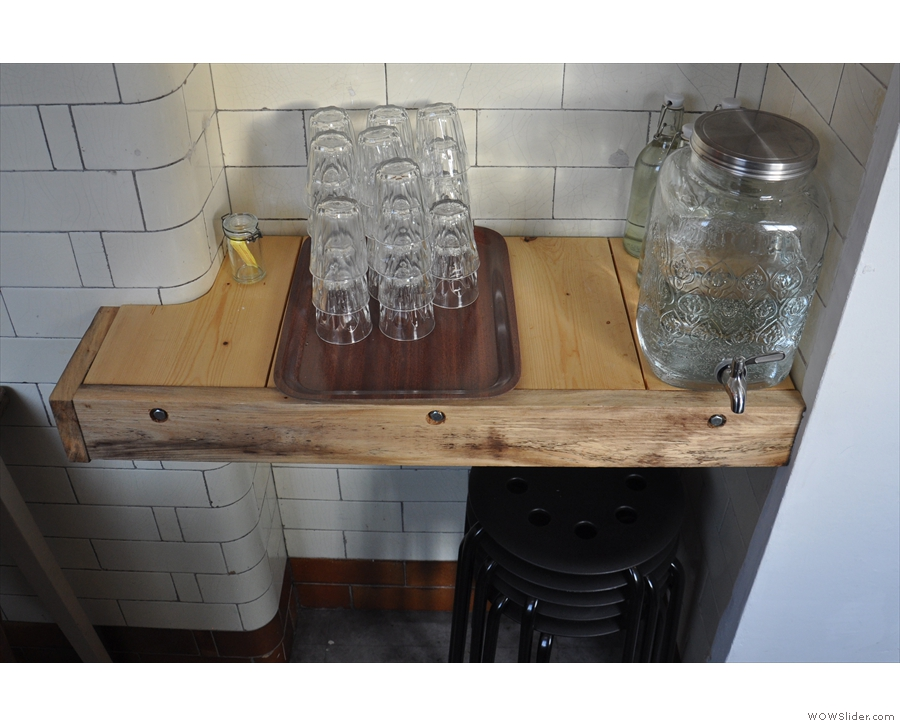 Neat water station.