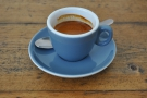 I had a shot of the espresso, using Extract's Rocket Blend...