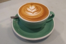 I started my day properly with a flat white (I did say it was Aussie-inspired).
