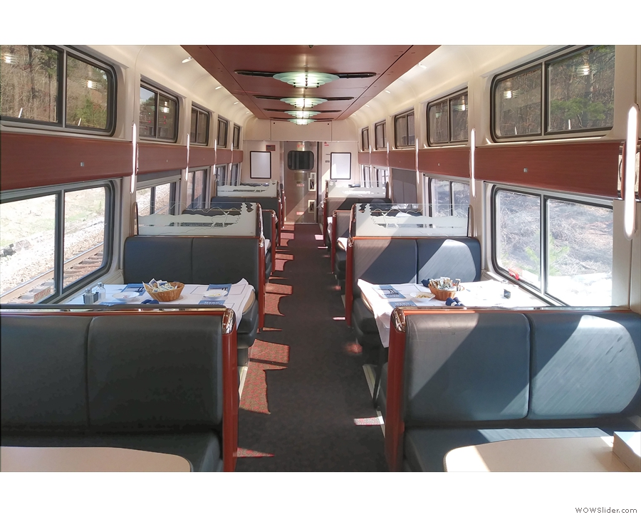 After that, it was down to the lovely dining car...