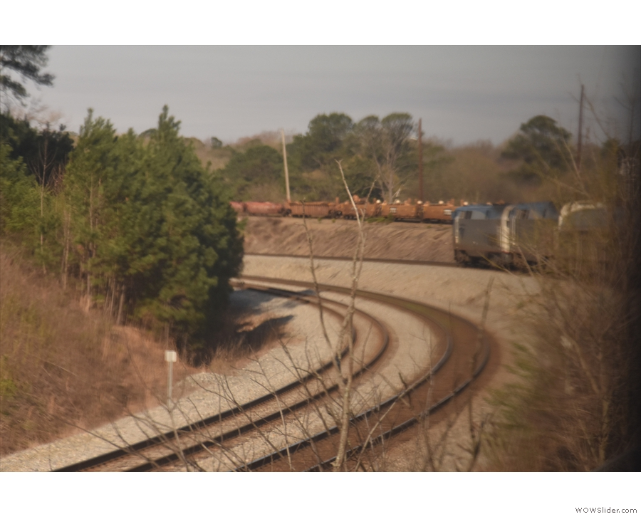 Leaving Atlanta, and one of the few genuinely multi-track sections. The long, tight curve...