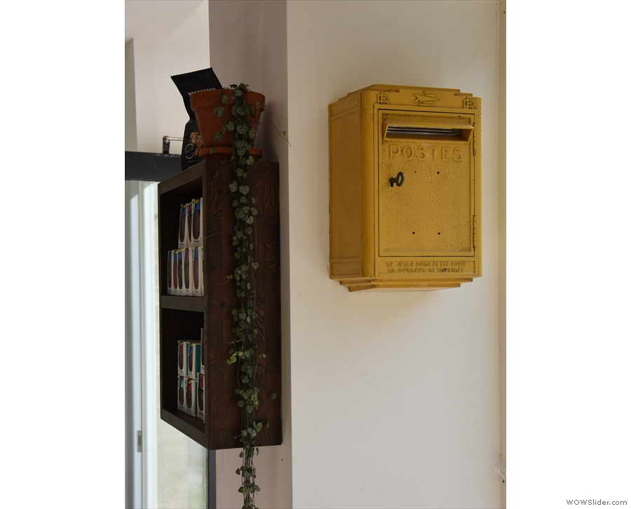 There are a few neat features down here too, such as this old French mail box...