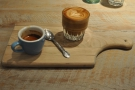 On my first viist in 2016, I had a split shot to try out the house espresso. Nice presentation.