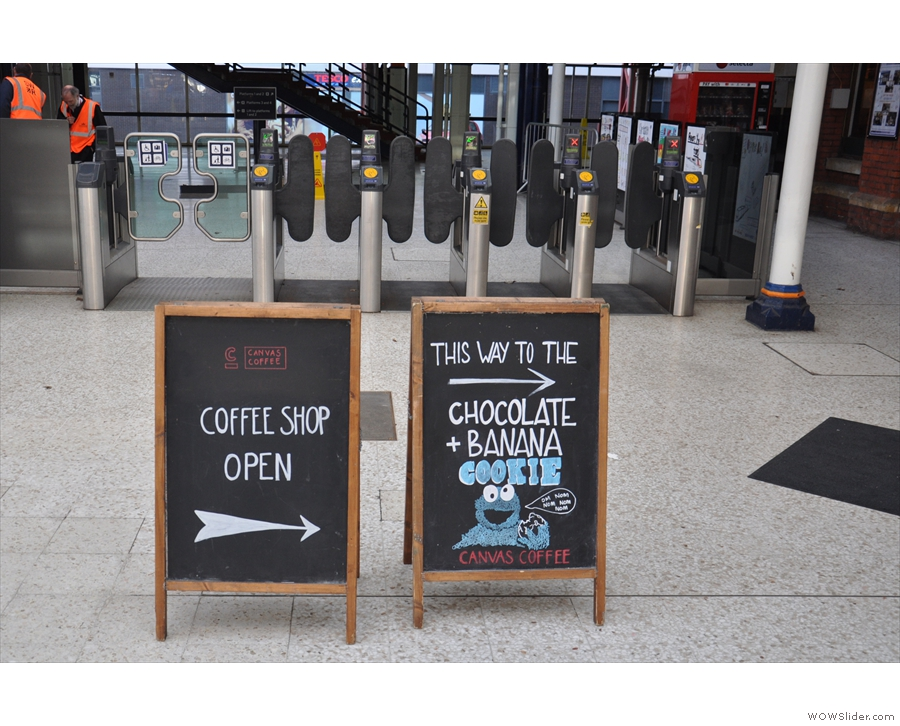 Just before (or just after, if you've come by train) the ticket barriers, you reach these...