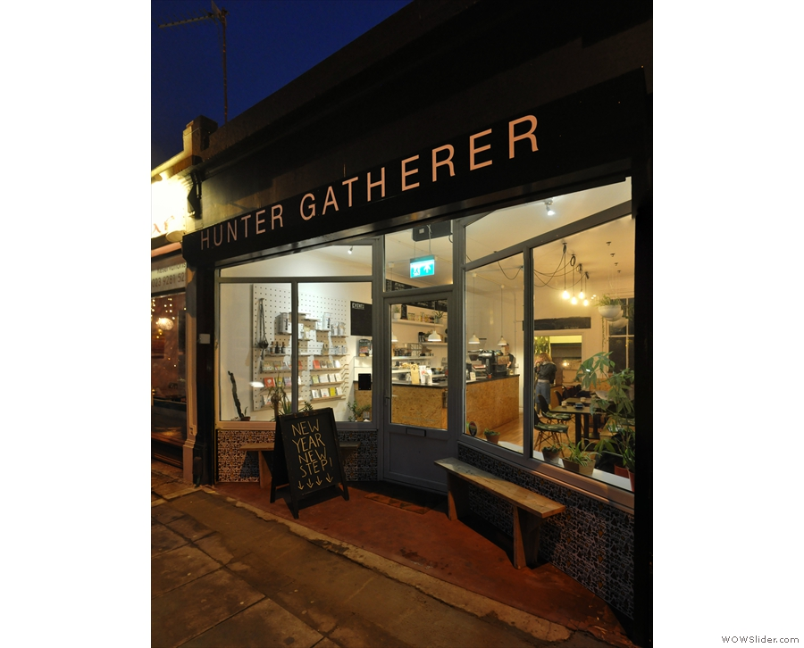 On a winter's evening on Albert Road in Southsea, Hunter Gatherer is a welcome sight.