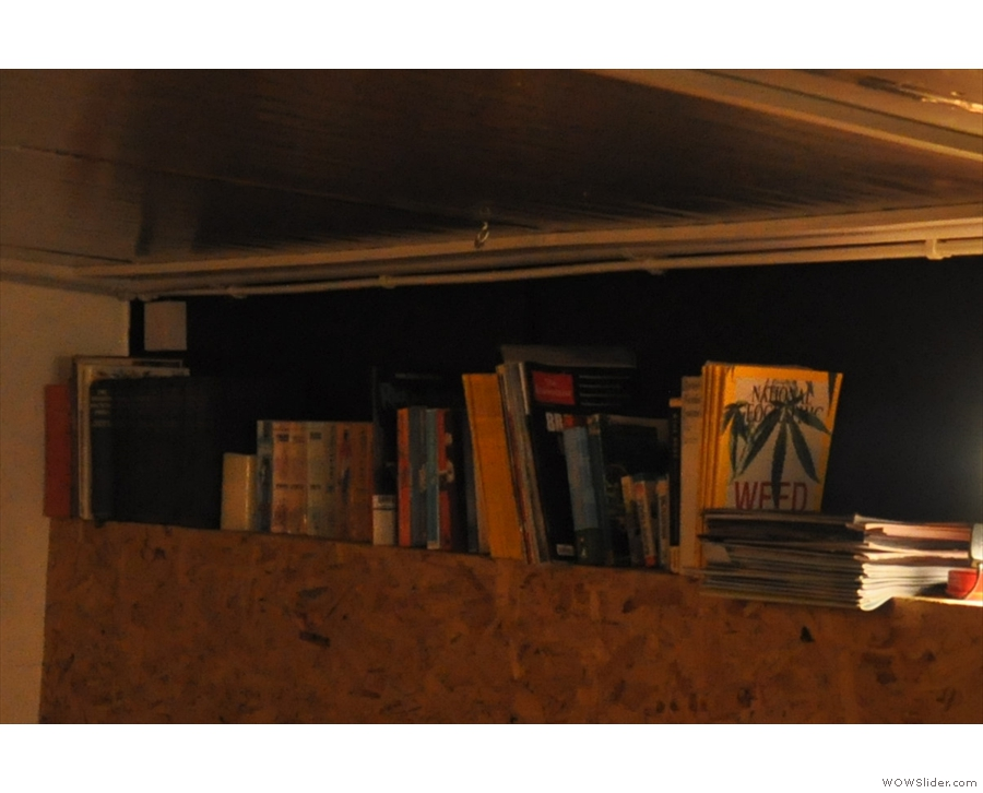 There's also the books above the tables on the left...