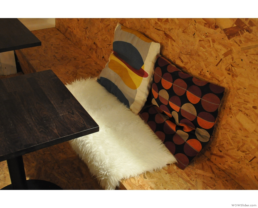 ... while rugs and cushions are provided for enhanced comfort.