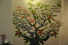 There's some lovely decoration back here, including this tree showing the coffee varietals.