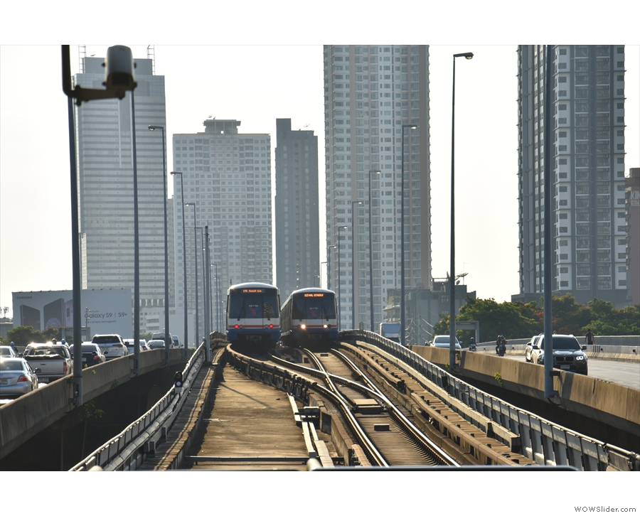 ... carrying the Sky Train, part of Bangkok's mass transit system.