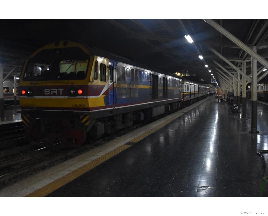 The Special Express 13 from Bangkok to Chiang Mia, waiting to leave Hua Lamphong.