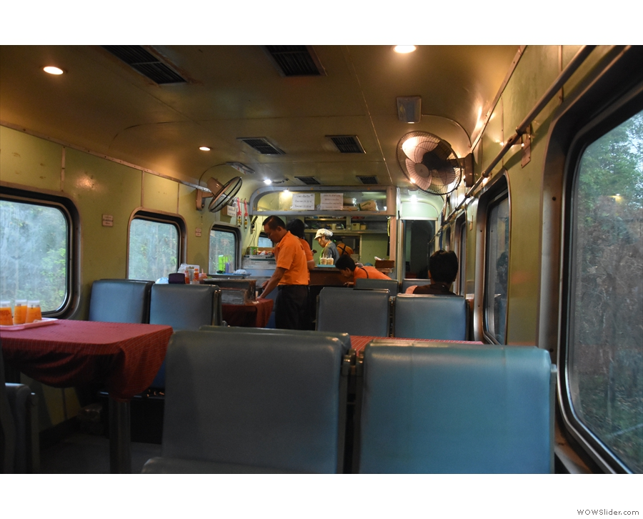 I decided to return to the restaurant car for breafast & was shown to the same seat.