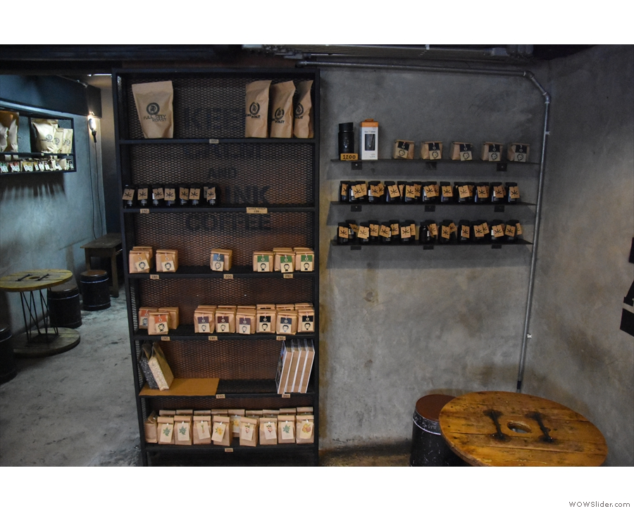 The retail section, by the way, carries an extensive range of Akha Ama's coffee.