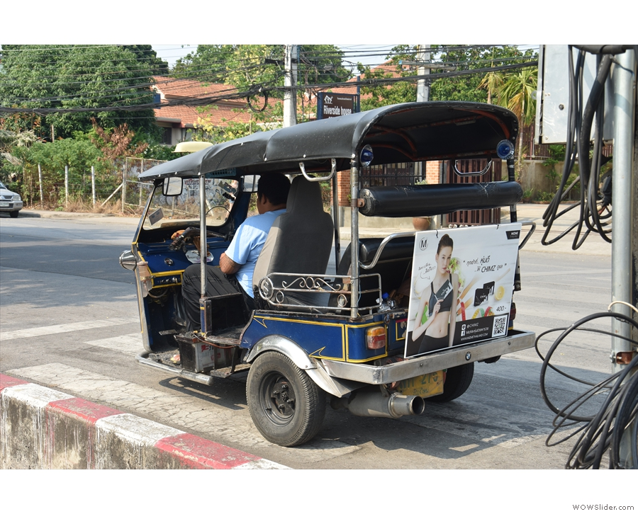 The infamous tuk-tuks of Chiang Mai. Rather you than me!