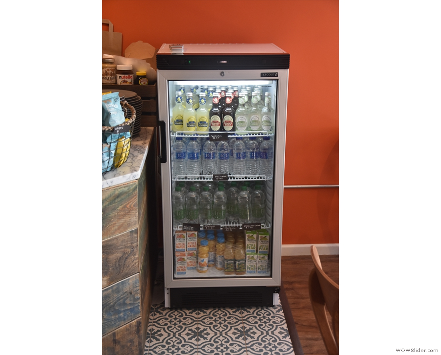 ... starting with this chiller cabinet, full of soft drinks.